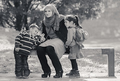 A mother (Jasmina Du) Tags: portrait portraits children child mother hijab