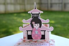 kokeshi doll pop up invitations (1) (Jingvitations) Tags: kokeshi invitations japanesedoll handmadeinvitations