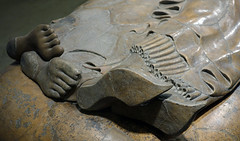 Sarcophagus of the Spouses, detail with feet