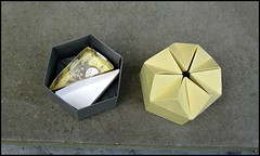 Hexagon Box with Triangle Box Inserts - Pages 36 and 41 (rebecccaravelry) Tags: origami box totoro fuse tomokofuse