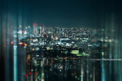Tokyo Blur (A-lain W-allior A-rtworks) Tags: city blur tower japan architecture night 50mm tokyo nikon tour bokeh spot capitale nikkor nuit japon ville flou metropole d800 f12 graphique