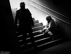 Misery (Tullio Imperatore) Tags: poverty street white black stairs canon photography pain sad poor misery suffering indifference npsmultimedia