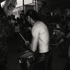 Vikings 1 (Meggoblivion) Tags: portrait blackandwhite bw white black blackwhite pentax drummer vikings k20d pentaxk20d pentaxart