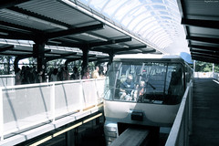 "Monorail Tram near Space Needle • <a style=""font-size:0.8em;"" href=""http://www.flickr.com/photos/34843984@N07/15359310918/"" target=""_blank"">View on Flickr</a>"