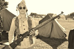 DSC_0619 - GERMAN MAUSER K98 8mm (wlcausey) Tags: camp history museum living wwii oct equipment event german historical uniforms pow 18 8mm reenactment axis allies 2014 hearne mauser k98