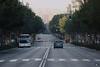 Avda. Hacia el Mediterráneo. (elojeador) Tags: bus avenida calle coche árbol neblina asfalto piso autobús calzada línea pasodepeatones pasocebra elojeador pasodepegatinas avdadelmediterráneo