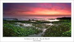 Soldiers Rock Shelf (Mathew Courtney) Tags: sky colour water clouds sunrise moss rocks nsw centralcoast soldiersbeach