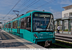 Riedberg: U5 Wagen (alterralexey) Tags: bus germany underground subway u2 am metro frankfurt main siemens tram ubahn u1 u3 u4 bombardier u5 u8 u9 u7 stadtbahn u6