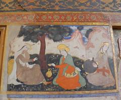 Palacio Chehel Sotun pinturas en murales 23 (Rafael Gomez - http://micamara.es) Tags: en iran murals persia palace  murales  isfahan pinturas paints palacio irn columnas frescos    cuarenta chehel sotoon    sutun sotun chihil  isfahn sotn