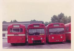 MB 119, VLW119G  / ? / MB23, VLW23G . Radlett  June 1976. (busmothy) Tags: merlin radlett aec vlw119g vlw23g