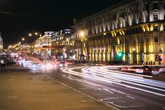 The Independence Avenue / Проспект независимости (Boris Kukushkin) Tags: street light night stream traffic streetlamp minsk