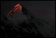 Dusk on Khan Tengri (6995m) II (doug k of sky) Tags: republic doug tian glacier khan kyrgyz shan kyrgyzstan tien tengri inylchek mountainscapes engilchek kofsky