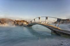 blue lagoon (tombreen70) Tags: bridge water iceland peaceful heat bluelagoon