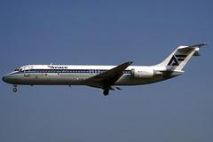 Aviaco DC-9-32 EC-BYI BCN 17/08/1999 (jordi757) Tags: barcelona nikon airplanes bcn kodachrome douglas f90x kodachrome64 avions mcdonnell dc9 elprat dc932 aviaco lebl ecbyi