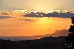 sunset (Steve Antalics) Tags: sunset clouds landscape island nikon greece shore crete d90 backlist