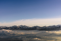 The southern Alps (ferle) Tags: sunset sky sun mountains fog clouds austria soft mood carinthia adventure peaks gerlitzen karawanken ventureout ferlitsch landscapeadventure