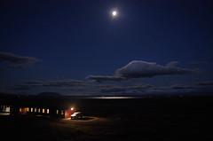 myvatn accomodation at night 6 (Bilderschreiber) Tags: auto light moon lake car night landscape island volcano see mond licht iceland nacht landschaft reflexion myvatn vulkane