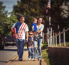 Happy Veterans Day! (Darren LoPrinzi) Tags: family blue red usa white america canon fun us flag nj patriotic flags parade celebration americana 5d canon5d patriot patriotism miii memorialday redwhiteblue groveville memorialday2014