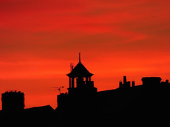 Red sky at night..... (GillWilson) Tags: sunset silhouette