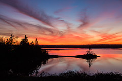Stop the Car (bluegreenorange) Tags: sunset canada reflection water clouds novascotia ns lawrencetown