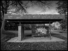 Parklife (DR JIGGY) Tags: blackandwhite st helens shelter sherdleypark