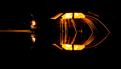 Wire Wool Spinning Night (DrSchabbs) Tags: light reflection wool water car yellow night river dark fire lights ripple australia beam canberra mazda sparks rhys beams act davies 323 australiancapitalterritory mazda323 rhysdavies wirewoolspinning drschabbs