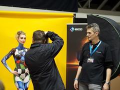 Photo+Adventure 2014, Linz (austrianpsycho) Tags: woman girl linz model stage bodypaint shooting bodypainting frau softbox designcenter fotoshooting photoshooting eizo bühne lichtformer fotomesse photoadventure2014