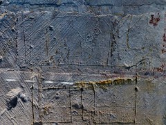 Moing - Saint-Martin (Martin M. Miles) Tags: france castle graffiti 17 graffito bishop charente abbot poitou fortified mitra apse charentemaritime poitoucharentes carvedgraffiti carvedgraffito moings