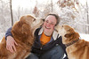 Feel the love :) (miss_n_arrow) Tags: winter dog white snow love dogs girl golden mix kirby kiss husky with sweet snowy young first kisses tasty canine retriever juneau butter peanut l cheated canines i huskador