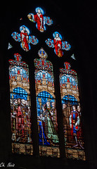 In Saint-Seurin de Bordeaux 2 (Ch.Neis) Tags: city france church town reflex nikon 33 bordeaux kirche stainedglass vitrail stadt nikkor dslr eglise ville afs dx vitraux kirchenfenster aquitaine gironde 18105mm d5200 photographedandcopyrightbychristophneis