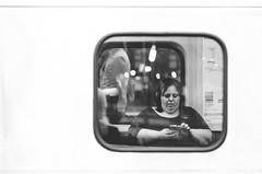 Central Station   Sydney   2014 (Jgor Cava) Tags: street people blackandwhite bw train phone transport streetphotography bn society treno biancoenero finestrino vsco vscofilm