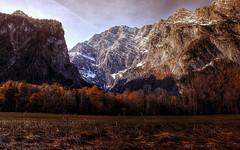 The mountain Watzmann (GroJaqu) Tags: trees mountain nature berg forest canon landscape berchtesgaden scenery dslr landschaft wald bume hdr photomatix watzmann
