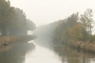 Mist boven kanaal