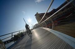 Valentine's Bridge (The Green Album) Tags: city bridge bicycle river bristol temple cyclist crossing centre pedestrian quay valentines avon pathway