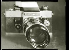 Weirdo (O9k) Tags: camera stilllife film analog studio prism papernegative 4x5 pentacon praktica largeformat 9x12 viewcamera cameraporn selfdeveloped homedeveloping russianlens rtl1000 sovietlens sinarp industar51 directpapershot