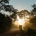 Pôr-do-sol na transamazônica boliviana