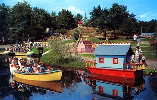 Storytown start of the Swan Boat Ride Lake George NY
