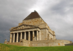 Shrine of Remembrance 1 (PhillMono) Tags: heritage history loss architecture soldier memorial shrine mood cloudy empty military tomb overcast australia olympus victoria mausoleum sombre memory unknown remembrance e30 sacrifice