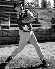 Swing...and a miss. (evanffitzer) Tags: baseball slopitch ball swing sports action bat uniform swish evanfitzer evanffitzer britishcolumbia kamloops diamond backstop game tournament canoneos60d