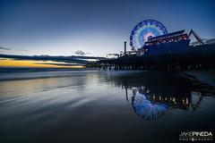Santa Monica Pier Sunset (JAKE PINEDA) Tags: california santa monica los angeles beach ocean pier lee filters nikon d810 nikkor 1424 f28 big stopper little 3 hard grad filter hdr long exposure reflection