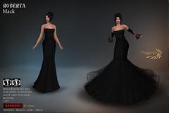 DANIELLE Roberta Black (Dani Plassitz ~Danielle~) Tags: formal blacklace gown frills elegance danielle sl