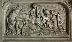[46053] St Mary (RC), Warrington : South Chapel (Budby) Tags: warrington cheshire church victorian catholic romancatholic sculpture carving altar reredos
