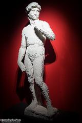 The Art Of The Brick (4) (Matteo Scardino) Tags: theartofthebrick tha art brick milano fabbricadelvapore lego mattoncini rosso red statue statua bianco white