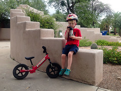 20160811_Shannon_phone_0091.jpg (Ryan and Shannon Gutenkunst) Tags: carsongutenkunst bike bikehelmet striderbike wall waterbottle tucson az usa