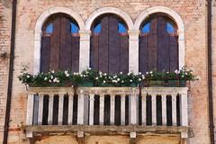 Flowered balcony (Sophai900) Tags: venice venecia venezia italia italian architettura italy street calle europe canon travel photo venedig venesi venise veneti veneza flower
