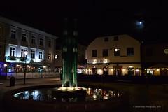 Halmstad at Night - City with Three Hearts (Amberinsea Photography) Tags: halmstad halmstadatnight citywiththreehearts nightphoto longexposure reflections river cityscape moon beautiful amazing sweden amberinseaphotography