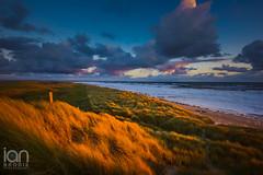 Golden Kiss (ianbrodie1) Tags: sun sunrise dunes druridge bay northumberland waves coast coastline golden clouds cloudsstormssunsetssunrises