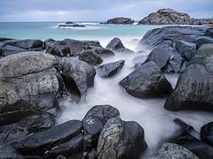 Time to ponder (katrin glaesmann) Tags: lofoten norwegen norway 2016 wwwicelandtoursnet winter longexposure 30seconds sea water rocks gimsøy nordland gimsøya
