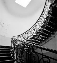 (andrey_kireev) Tags: georgia pentax6x7 ilforddelta400 blackwhite bw interior filmfilmforever film staircase stairs old oldtown pentaxsmc45mmf4 wideangle analog architecture analogue mediumformat mf tbilisi 67 6x7