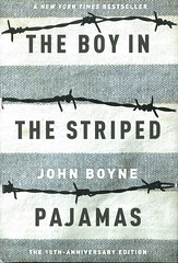 The Boy in the Striped Pajamas:  a Fable (Vernon Barford School Library) Tags: 9780385751063 johnboyne jphn boyne boy boys striped pajamas pyjamas historicalfiction historical history holocaust thirdperson pointofview auschwitz concentrationcamp concentrationcamps poland friend friends friendship jewishholocaust jewish jews nazi nazis germany german europe death deaths children child world war 2 two ii worldwar worldwartwo worldwar2 worldwarii secondworldwar 2ndworldwar 2nd second vernon barford library libraries new recent book books read reading reads junior high middle school vernonbarford fiction fictional novel novels hardcover hard cover hardcovers covers bookcover bookcovers